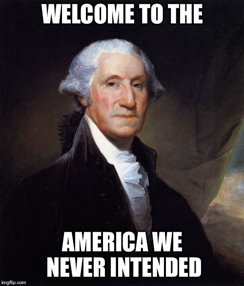 George Washington | WELCOME TO THE AMERICA WE NEVER INTENDED | image tagged in memes,george washington | made w/ Imgflip meme maker