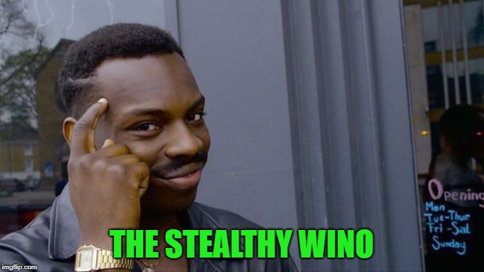 Roll Safe Think About It Meme | THE STEALTHY WINO | image tagged in memes,roll safe think about it | made w/ Imgflip meme maker