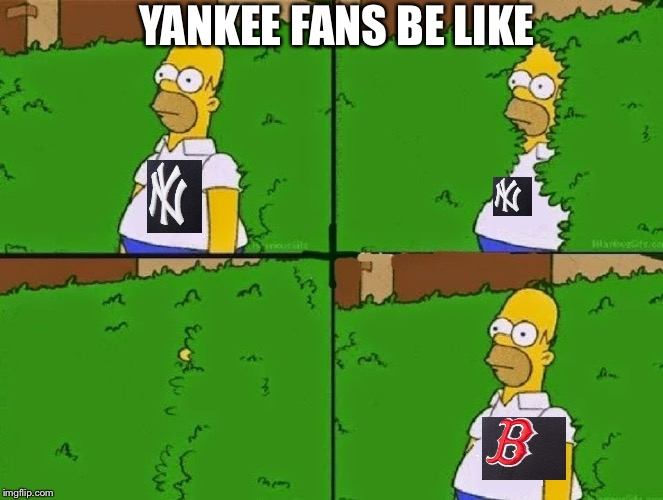 HOMER BUSH | YANKEE FANS BE LIKE | image tagged in homer bush | made w/ Imgflip meme maker