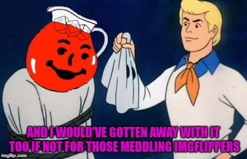 AND I WOULD'VE GOTTEN AWAY WITH IT TOO IF NOT FOR THOSE MEDDLING IMGFLIPPERS | made w/ Imgflip meme maker