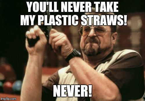 Am I The Only One Around Here Meme | YOU'LL NEVER TAKE MY PLASTIC STRAWS! NEVER! | image tagged in memes,am i the only one around here | made w/ Imgflip meme maker