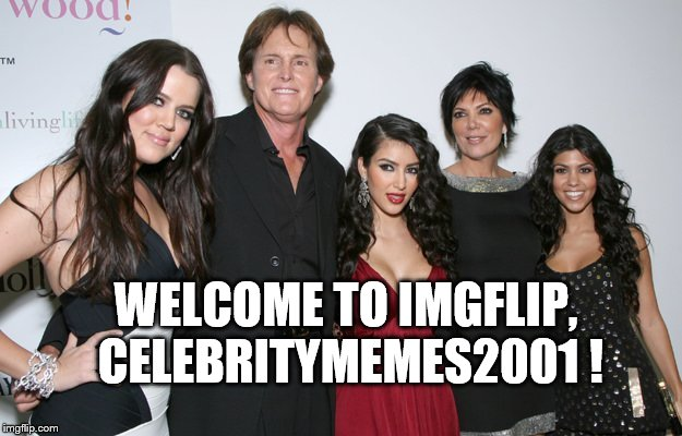 Jenner Christmas | WELCOME TO IMGFLIP, CELEBRITYMEMES2001 ! | image tagged in jenner christmas | made w/ Imgflip meme maker