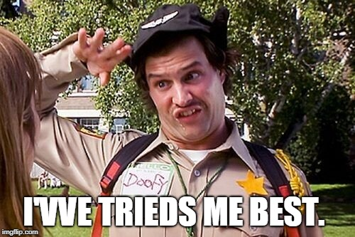 Special Officer Doofy | I'VVE TRIEDS ME BEST. | image tagged in special officer doofy | made w/ Imgflip meme maker