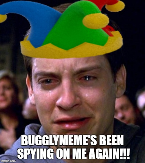 BUGGLYMEME'S BEEN SPYING ON ME AGAIN!!! | made w/ Imgflip meme maker