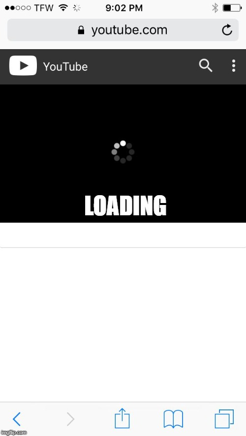 LOADING | image tagged in when you just wanna watch youtube and your wifi is perfect | made w/ Imgflip meme maker