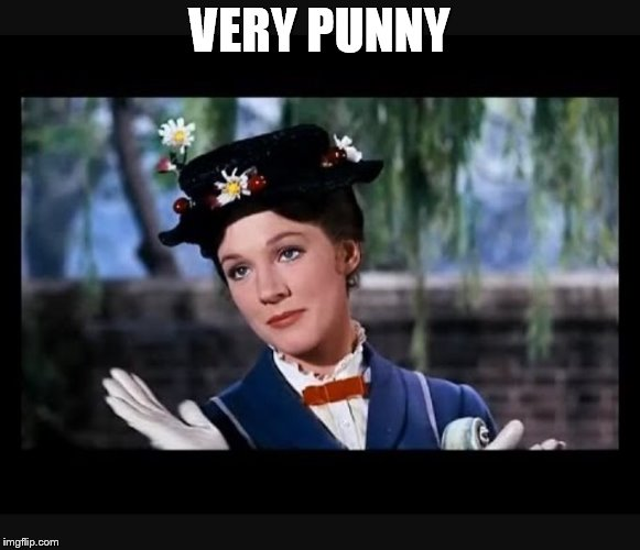 Mary Poppins slow clap | VERY PUNNY | image tagged in mary poppins slow clap | made w/ Imgflip meme maker