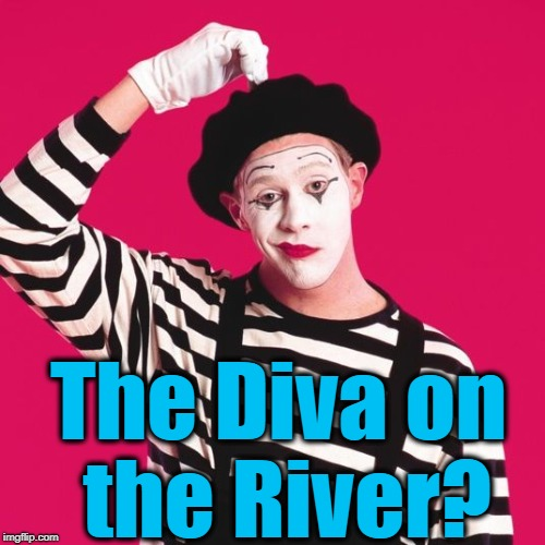 confused mime | The Diva on the River? | image tagged in confused mime | made w/ Imgflip meme maker