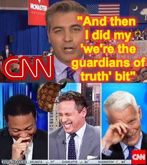 """And then I did my 'we're the guardians of truth' bit"" 
