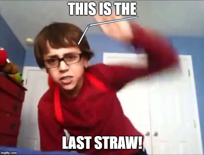 Well you better hold on to that. | THIS IS THE LAST STRAW! | image tagged in sammyclassicsonicfan,straws | made w/ Imgflip meme maker