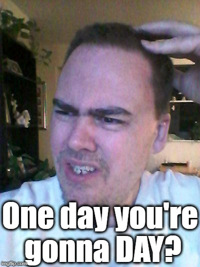 indecisive | One day you're gonna DAY? | image tagged in indecisive | made w/ Imgflip meme maker