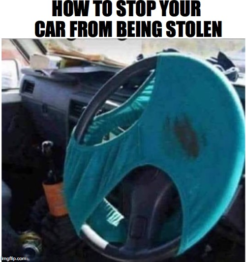 Anti-theft Device | HOW TO STOP YOUR CAR FROM BEING STOLEN | image tagged in grand theft auto,safety | made w/ Imgflip meme maker