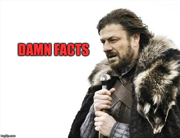 Brace Yourselves X is Coming Meme | DAMN FACTS | image tagged in memes,brace yourselves x is coming | made w/ Imgflip meme maker