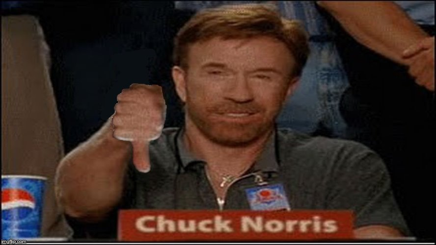 Chuck Norris Disapproves | . | image tagged in chuck norris disapproves | made w/ Imgflip meme maker