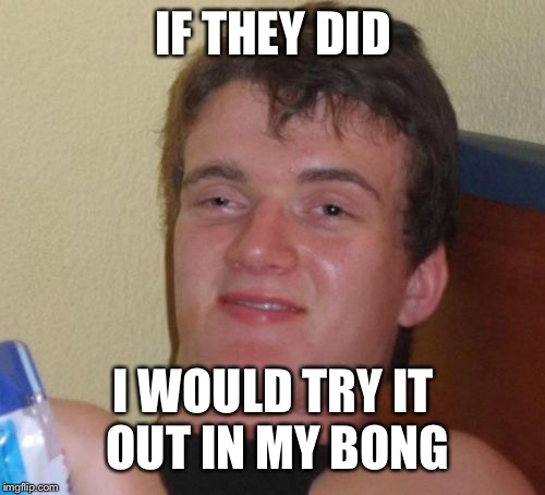 10 Guy Meme | IF THEY DID I WOULD TRY IT OUT IN MY BONG | image tagged in memes,10 guy | made w/ Imgflip meme maker