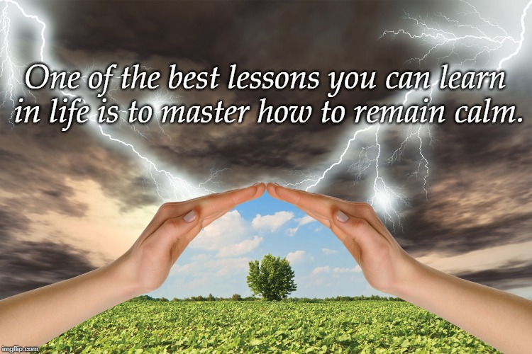 calm | One of the best lessons you can learn in life is to master how to remain calm. | image tagged in wisdom | made w/ Imgflip meme maker