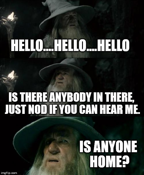 When you walk into your best friends house when he doesn't answer. | HELLO....HELLO....HELLO IS THERE ANYBODY IN THERE, JUST NOD IF YOU CAN HEAR ME. IS ANYONE HOME? | image tagged in memes,confused gandalf | made w/ Imgflip meme maker