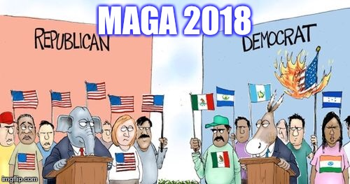 Americans vs America Haters | MAGA 2018 | image tagged in maga,donald trump,vote | made w/ Imgflip meme maker