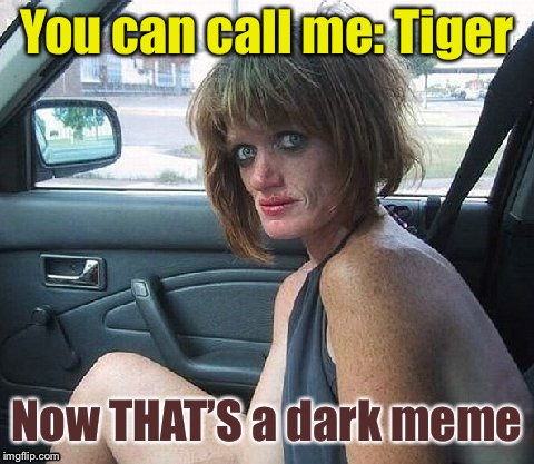 You can call me: Tiger Now THAT'S a dark meme | made w/ Imgflip meme maker