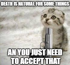DEATH IS NATURAL FOR SOME THINGS AN YOU JUST NEED TO ACCEPT THAT | image tagged in some animals | made w/ Imgflip meme maker