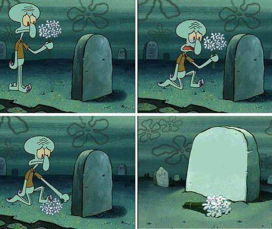 here lies squidward dreams Meme Template