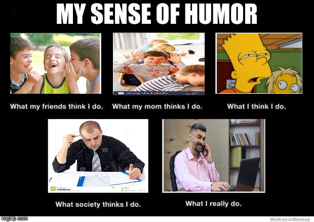 What I really do | MY SENSE OF HUMOR | image tagged in what i really do | made w/ Imgflip meme maker