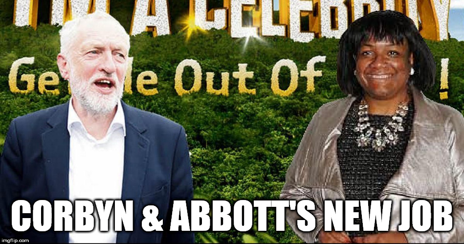 #wearecorbyn | CORBYN & ABBOTT'S NEW JOB | image tagged in corbyn abbott jungle,wearecorbyn,anti-semite and a racist,anti-semitism,party of haters,communist socialist | made w/ Imgflip meme maker