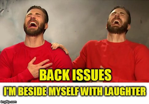 BACK ISSUES | made w/ Imgflip meme maker