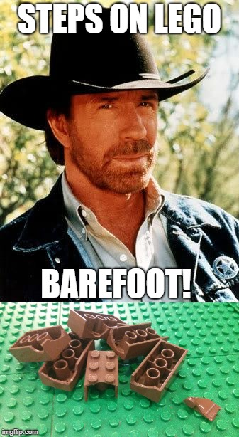 STEPS ON LEGO BAREFOOT! | made w/ Imgflip meme maker