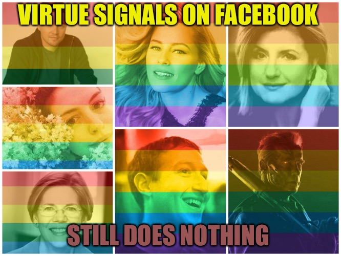 See My Virtue  |  VIRTUE SIGNALS ON FACEBOOK; STILL DOES NOTHING | image tagged in virtue signal,virtue,bullshit,cucks,facebook,future | made w/ Imgflip meme maker