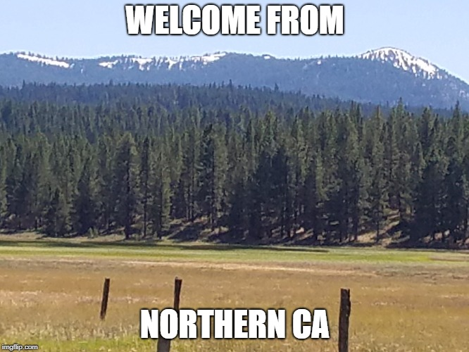 WELCOME FROM NORTHERN CA | image tagged in sierra meadow | made w/ Imgflip meme maker