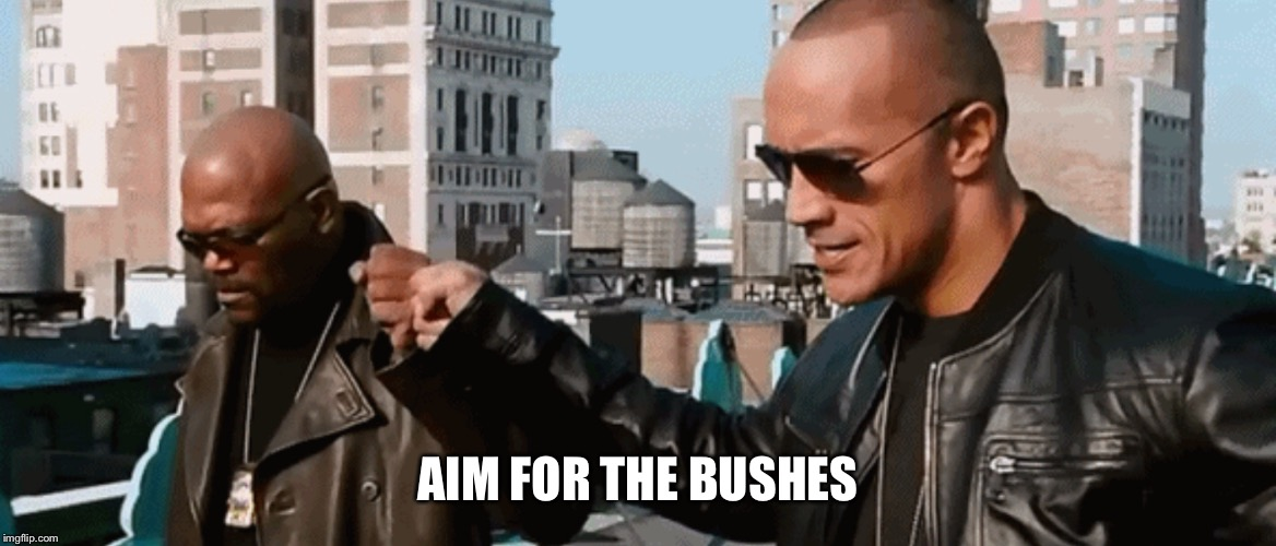 AIM FOR THE BUSHES | made w/ Imgflip meme maker