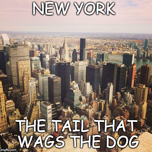 New York The Tail That wags The Dog | NEW YORK THE TAIL THAT WAGS THE DOG | image tagged in sadiq khan,new york,delinquent,racist | made w/ Imgflip meme maker