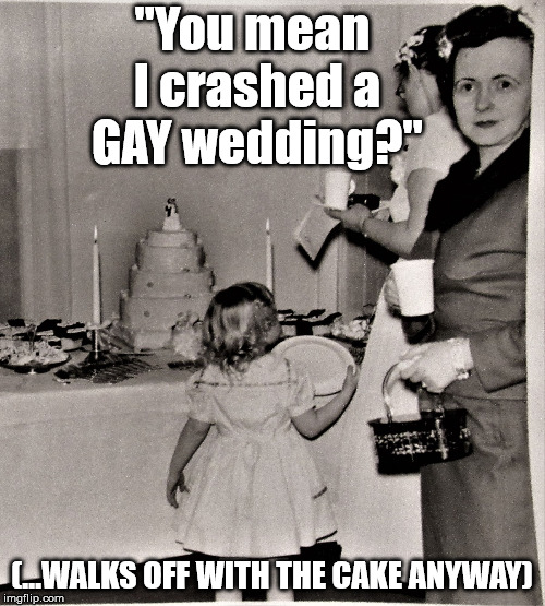 "Gay Wedding Crasher | ""You mean I crashed a GAY wedding?"" (...WALKS OFF WITH THE CAKE ANYWAY) 