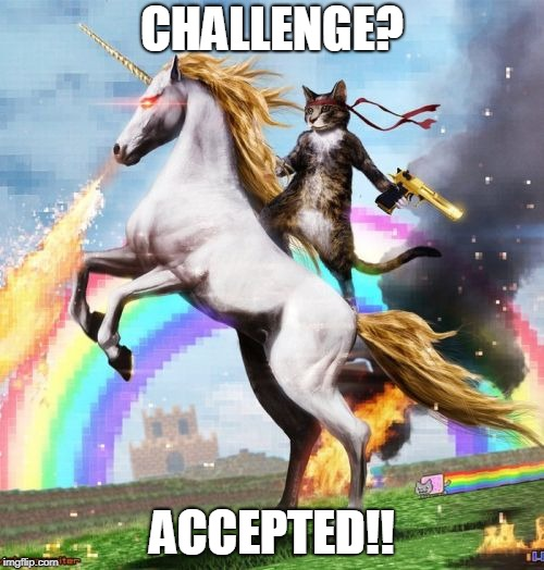 Welcome To The Internets | CHALLENGE? ACCEPTED!! | image tagged in memes,welcome to the internets | made w/ Imgflip meme maker