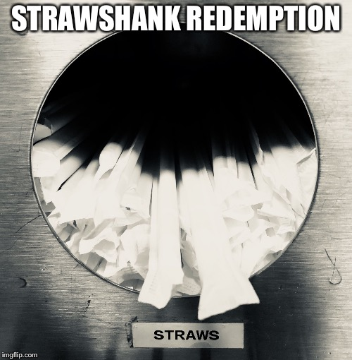 Strawshank Redemption | STRAWSHANK REDEMPTION | image tagged in straw jail,straws,plastic straws,san francisco | made w/ Imgflip meme maker