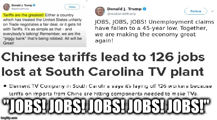 "JOBS! JOBS! JOBS! | ""JOBS! JOBS! JOBS! JOBS! JOBS!"" 