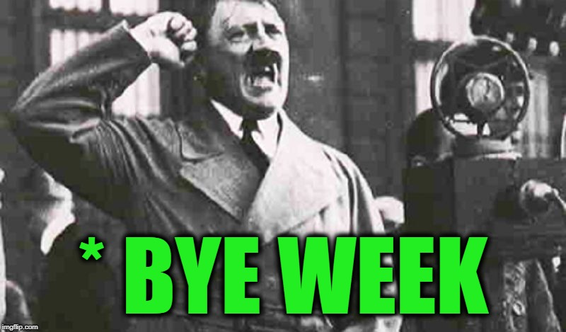 Angry Hitler Large | * BYE WEEK | image tagged in angry hitler large | made w/ Imgflip meme maker