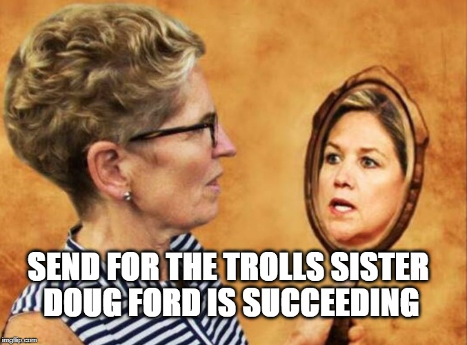 NDPickpockets | SEND FOR THE TROLLS SISTER DOUG FORD IS SUCCEEDING | image tagged in political meme | made w/ Imgflip meme maker