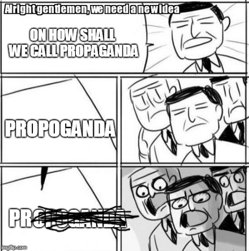 "And then it became ""public relations"" 