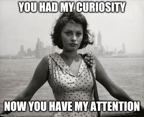 YOU HAD MY CURIOSITY NOW YOU HAVE MY ATTENTION | made w/ Imgflip meme maker