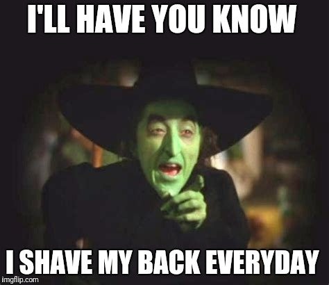 I'LL HAVE YOU KNOW I SHAVE MY BACK EVERYDAY | image tagged in hillary | made w/ Imgflip meme maker