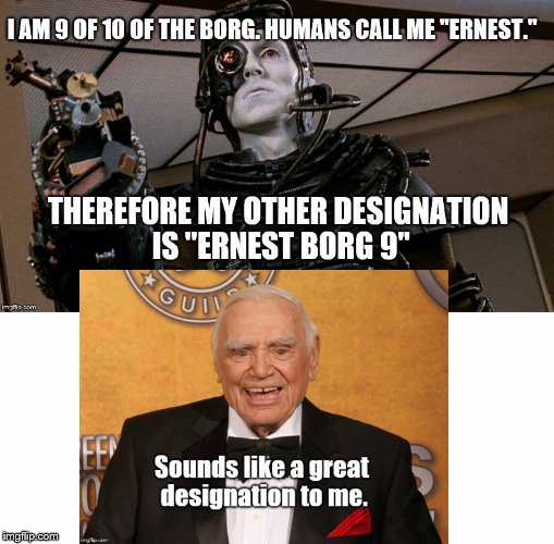 I think this is very punny. |  . | image tagged in the borg | made w/ Imgflip meme maker