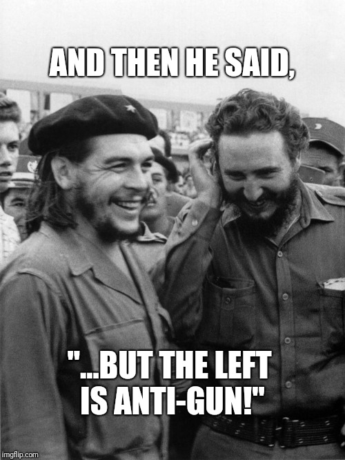"AND THEN HE SAID, ""...BUT THE LEFT IS ANTI-GUN!"" 