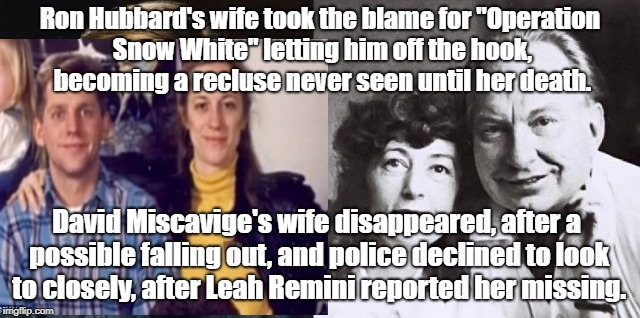 "Sacrificing Scientology Wives | Ron Hubbard's wife took the blame for ""Operation Snow White"" letting him off the hook, becoming a recluse never seen until her death. David  