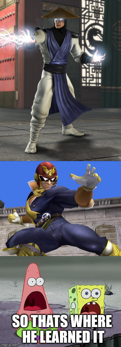 MKXI will have captain falcon?! | SO THATS WHERE HE LEARNED IT | image tagged in mkx | made w/ Imgflip meme maker
