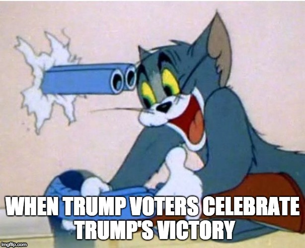 It may Appear that Trump Voters have Some Kind of (Unknown) Disability | image tagged in tom and jerry,politics,election 2016,memes,donald trump,disability | made w/ Imgflip meme maker
