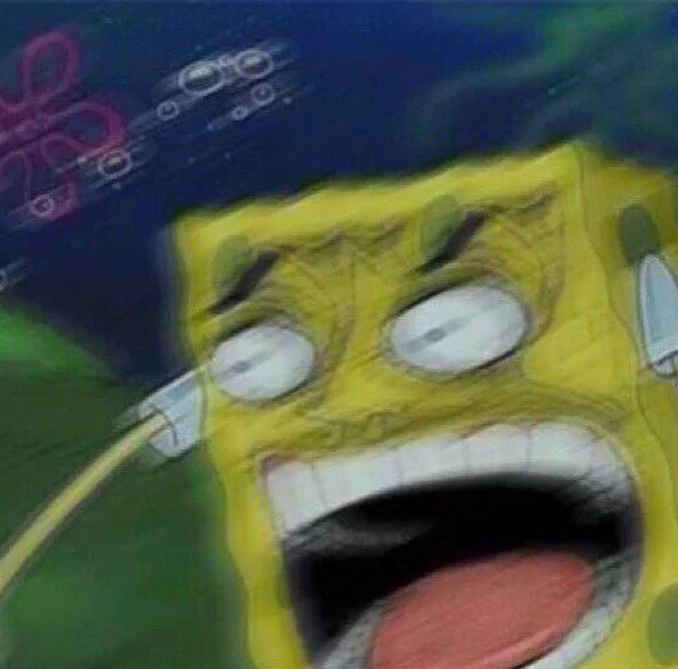 Angry spongebob meme template