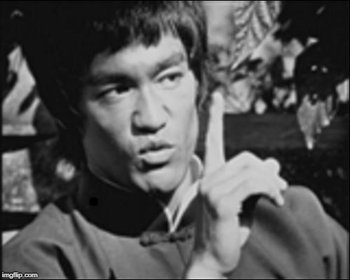 One Bruce Lee | . | image tagged in one bruce lee | made w/ Imgflip meme maker