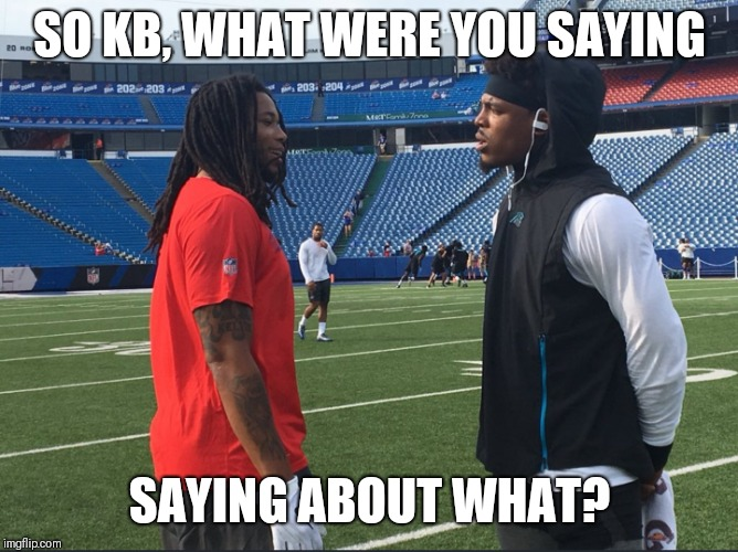 Pink Panther | SO KB, WHAT WERE YOU SAYING SAYING ABOUT WHAT? | image tagged in cam newton,carolina panthers,nfl memes | made w/ Imgflip meme maker