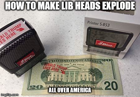 HOW TO MAKE LIB HEADS EXPLODE ALL OVER AMERICA | image tagged in trump | made w/ Imgflip meme maker